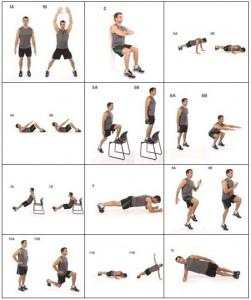 Détails des exercices du programme 7 minutes par jour