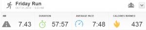 RunKeeper 7km