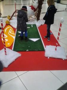Gros succès pour le mini-golf du Père Noël!