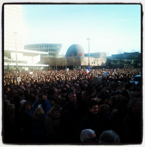 Une infime partie de la foule à Rennes