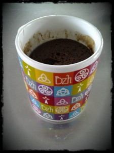 Le mug du Mugcake Chocolat Caramel au Beurre salé