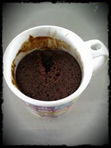 Recette Mugcake Chocolat Caramel - Après Cuisson