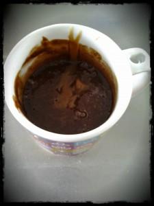 Recette Mugcake Chocolat Caramel - Avant Cuisson