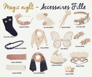 Accessoires Tenue Noël Fille Magic Night Tape à l'Oeil