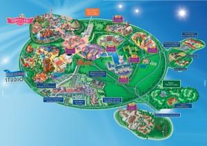 Quel hôtel choisir à Disneyland - plan du parc et des hôtels