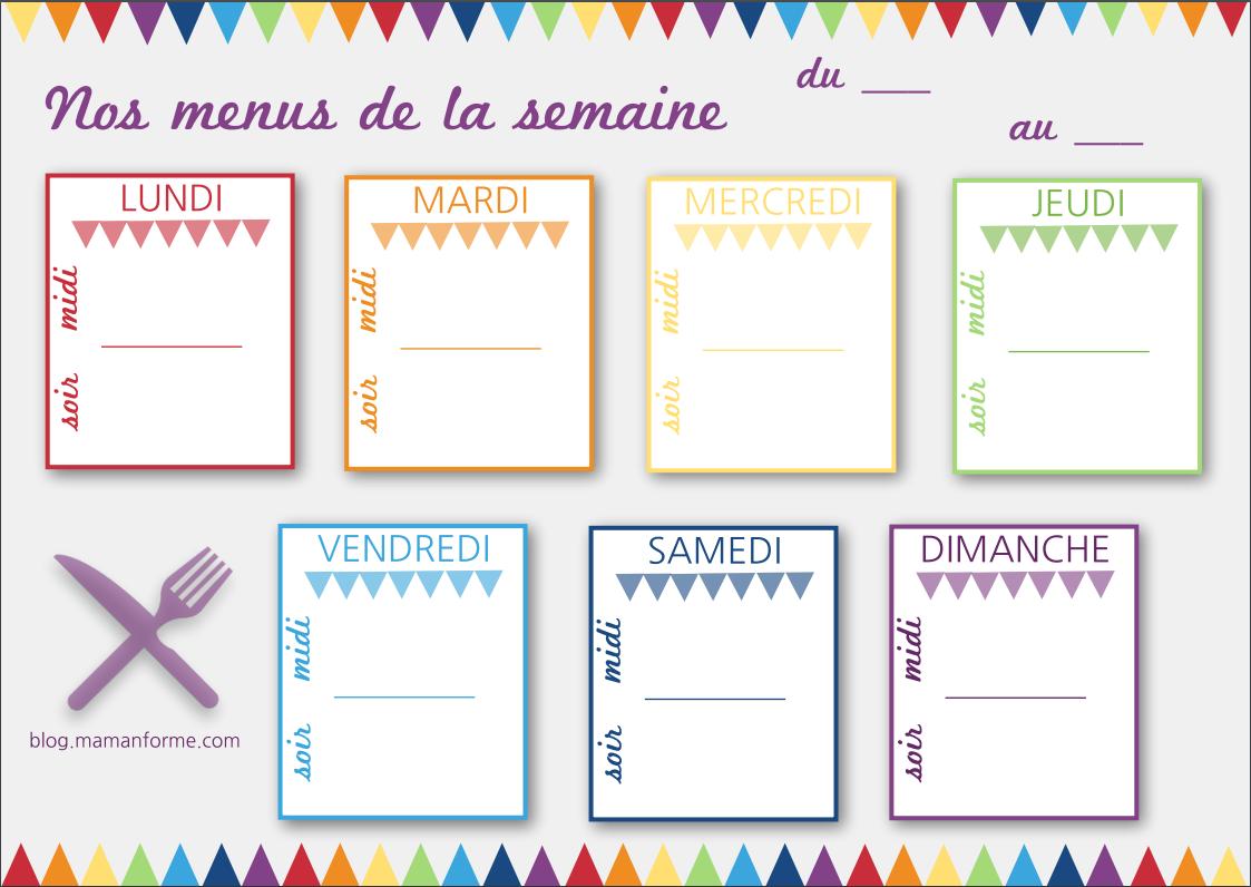 idée de repas pour la semaine Nos idées menus pour la semaine #12   Le Journal d'une Mam'an Forme idée de repas pour la semaine