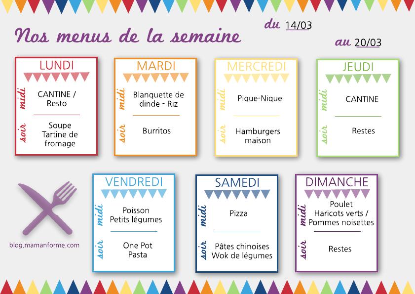 Id es repas semaine famille - Idee menu pour soiree beaujolais ...