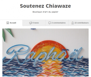 Crownfunding Chiawaze Origami Quiling