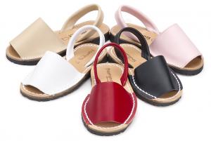sandales minorquines cuir pas cher